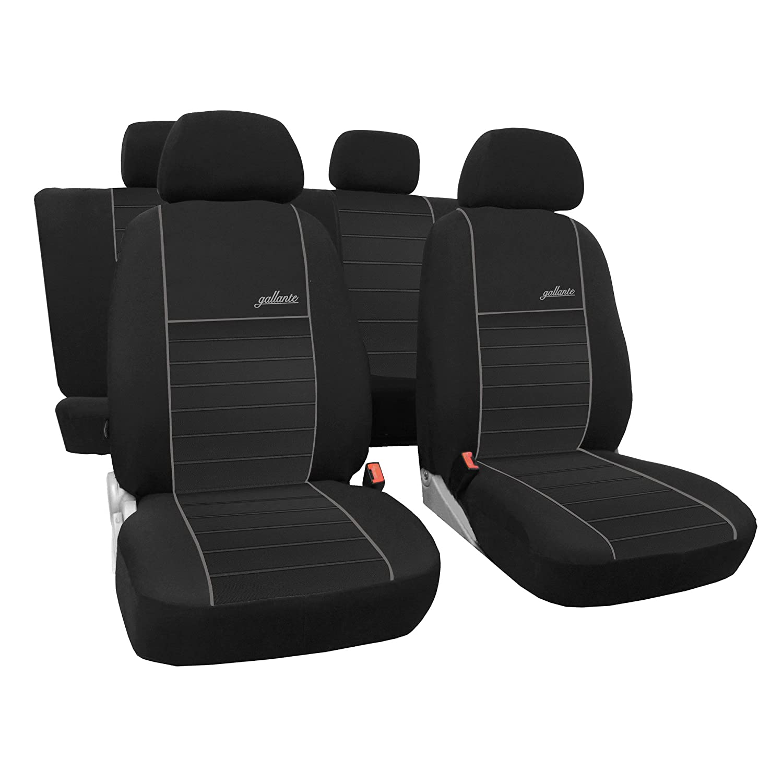 Safe Ride | Mass Coprisedili Auto Nero Completo Set 5 sedili coprisedili Coprisedili Auto Auto Copri-Sedili auto protezione sedili gallante VIP Saferide