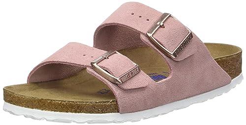 1629b66177782c BIRKENSTOCK Damen Arizona Leder Softfootbed Pantoletten Pink (Rose) 35 EU