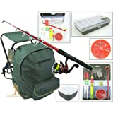 Roddarch copy; Junior Beginners Fishing Kit Set Inc. Rod, Reel, Tackle Set, Fishing Stool Seat Rucksack & Bait Box
