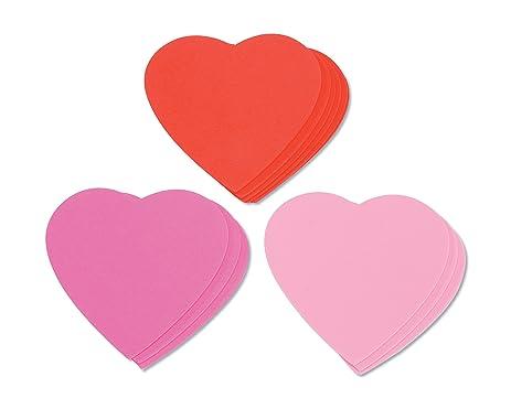 Amazon.com: Darice Foam Shapes Embellishments, Hearts, 12-Pack ...