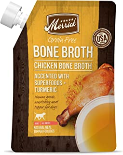 product image for Merrick Bone Broth All Life Stages Dog Food Topper Pouch