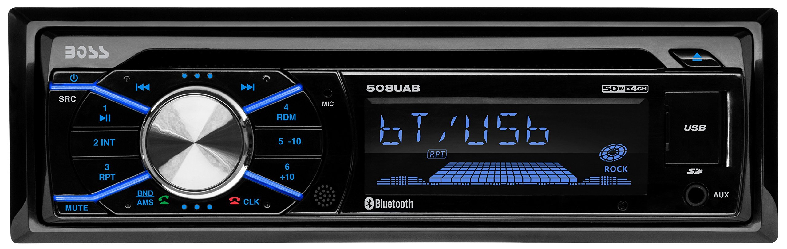 BOSS Audio 508UAB Single Din, Bluetooth, CD/MP3/WMS/USB/SD AM/FM Car Stereo, Wireless Remote (Certified Refurbished) by BOSS Audio (Image #1)