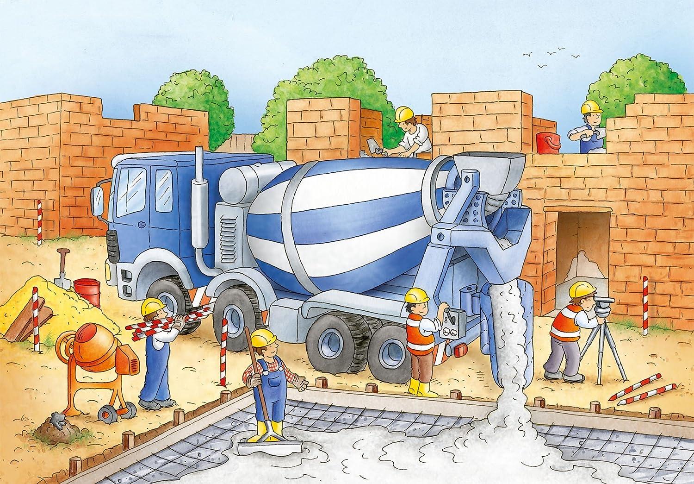 Baustelle haus comic  Ravensburger 09161 - Vorsicht Baustelle - 2x20 Teile Puzzle ...