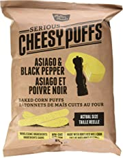 Fuller Foods Cheese Puffs, Asiago Black Pepper, 85 grams