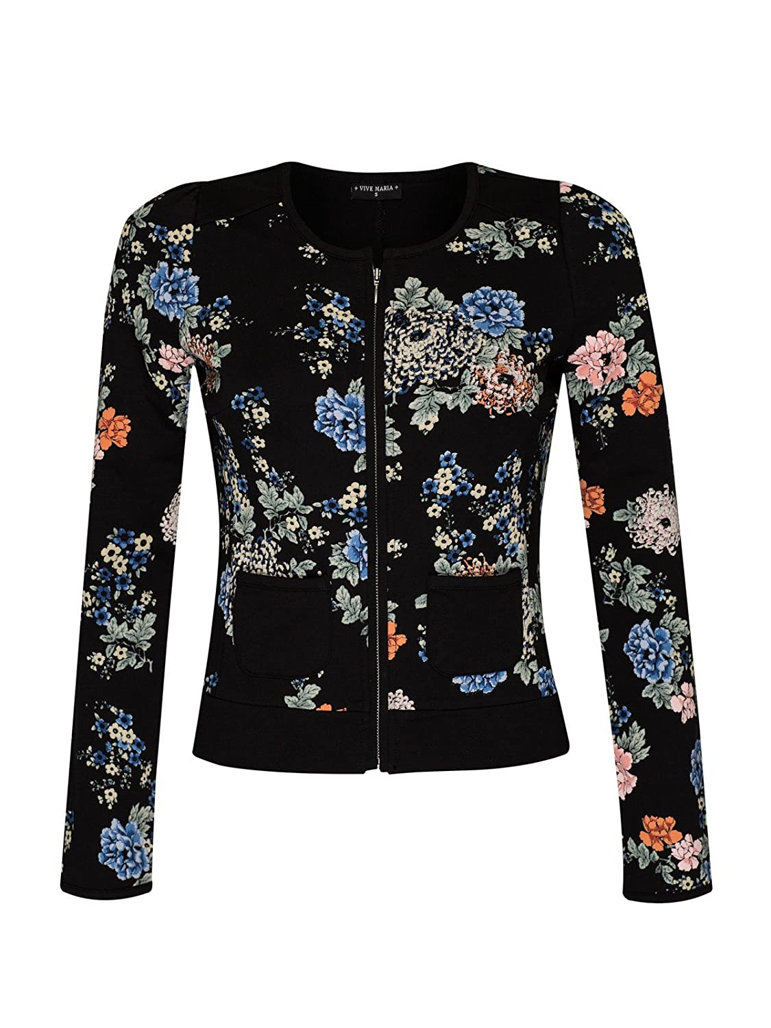 Vive Maria Floral Dream Sweat Jacke schwarz Allover-Print