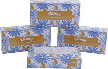 Kleenex Facial Tissue Box, 100 Sheets per Box, 2 Ply, 4 Box Combo, 60036 by Kimberly-Clark