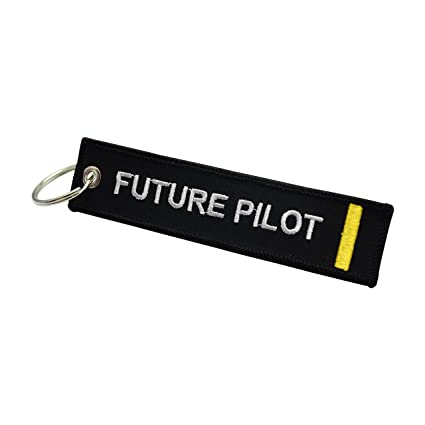 Flight Crew Tag Luggage Tag Pilot Keychain Aviamart® 100% Embroidered