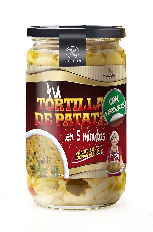 Preparado Para Tortilla de Patata con Verduras: Amazon.es ...