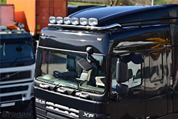 Bragan truck specific hand polished stainless steel roof light bar bragan truck specific hand polished stainless steel roof light bar 7 x super bright leds aloadofball Images
