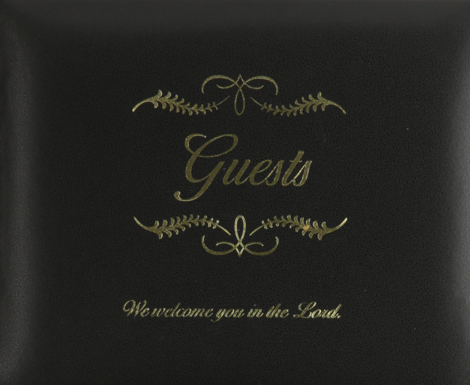 Small bonded leather all occasion guest book - black