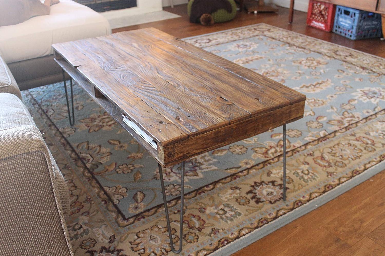 Amazon Com Reclaimed Wood Coffee Table Pallet Style Handmade