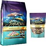 Zignature Whitefish Dog Food 4 Pound Bag & Whitefish (New) Ziggy Dog Treat Bars 12 Ounce Bag