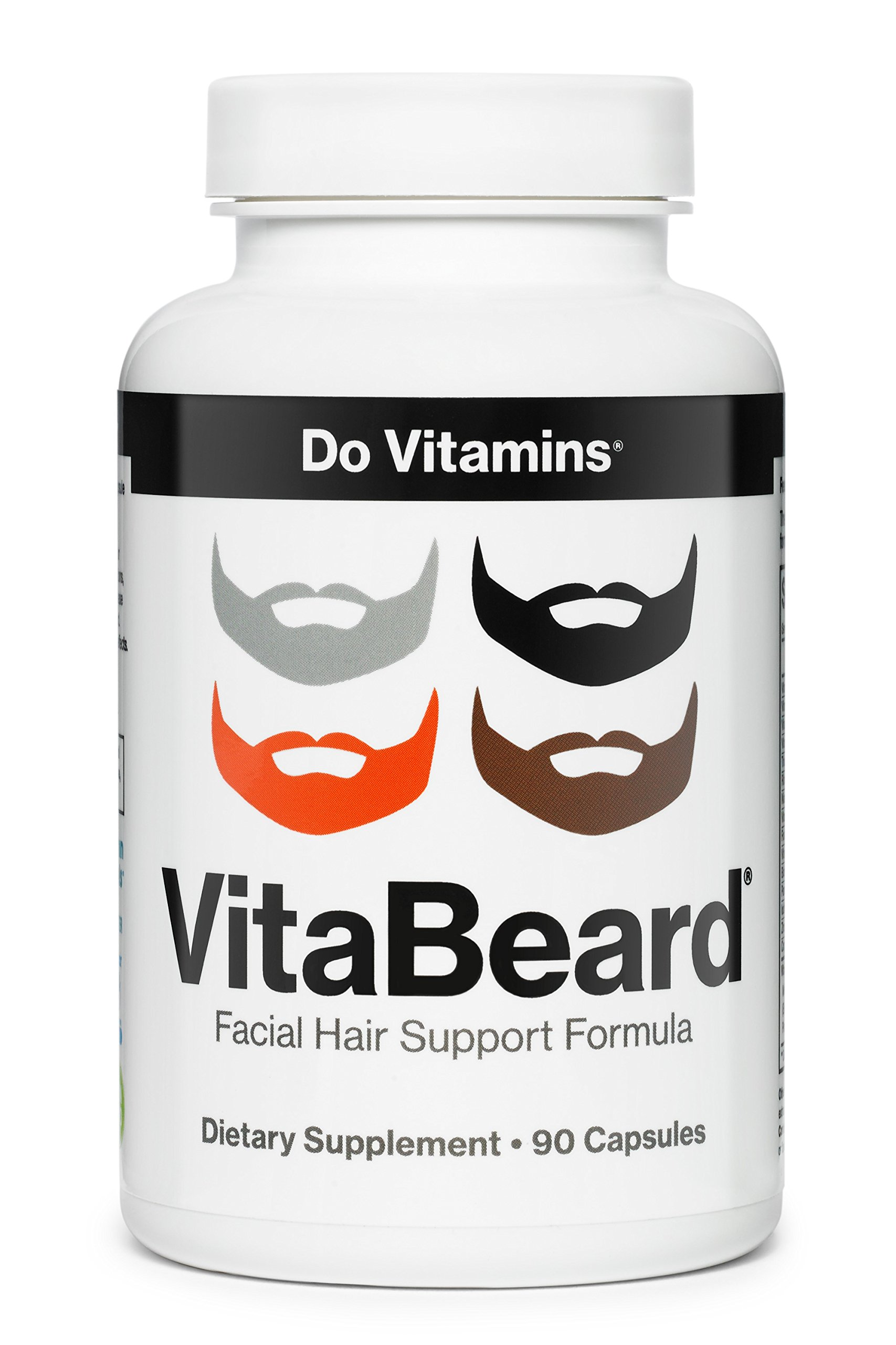 VitaBeard - Beard Growth Supplements For Men - Facial Hair Growth For Men - Beard Vitamins - The Original Beard Growth Formula - Vegan, Non-GMO, 3rd Party Tested (90 Capsules)