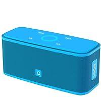 Cassa Altoparlante Bluetooth portatile Soundbox DOSS,Pulsanti Touch, Suono Stereo, Microfono Integrato, Slot per Scheda TF, AUX-IN, 12 ore di Autonomia, Compatibile con iPhone, Android, PC (C-Azzurro)