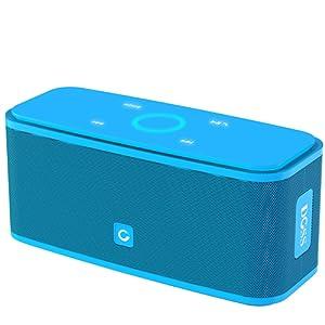 Haut-parleurs Portable Bluetooth DOSS sans fil, Haut-parleur Bluetooth V4.0 avec haute définition qualité sonore & basse supérieure, commande tactile, 12 heures d'autonomie, mains-libres [Blue] – Soundbox