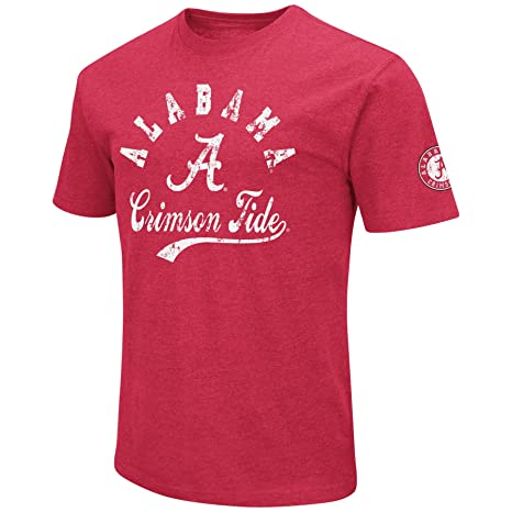 62aa9251 NCAA Colosseum Men's Vintage Dual-Blend T-Shirt with 2 Logos (Alabama  Crimson
