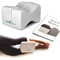 Doctor Developed Knee Pillow - Orthopaedic Memory Foam Wedge for Side Sleepers, Sciatica, Lower Back Pain - Leg Pillow…