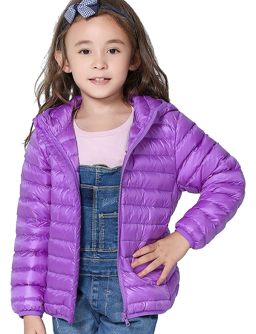 CHERRY CHICK Kid's Candy Color Packable Down Hooded Jacket 16080220