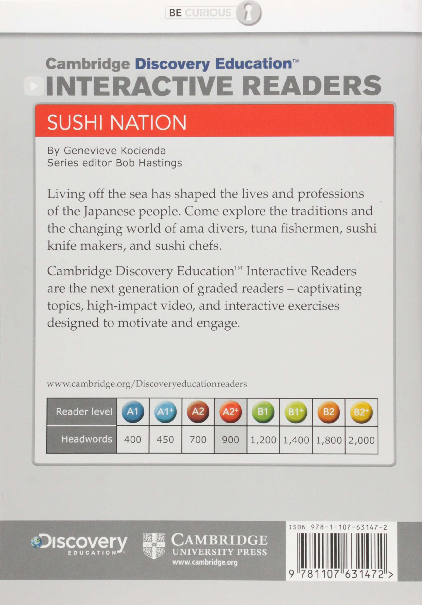 Sushi Nation Low Intermediate Book with Online Access (Cambridge Discovery Interactive Readers) by Cambridge Discovery Education