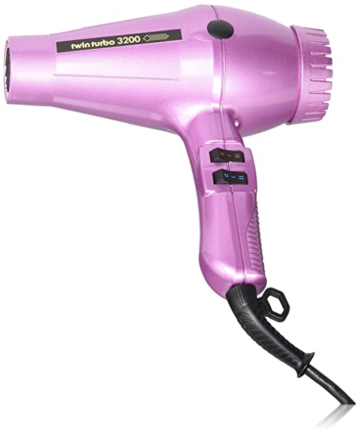 Amazon.com: Turbo Power Twin Turbo 3200 Hair Dryer - Grey Metallic: Beauty