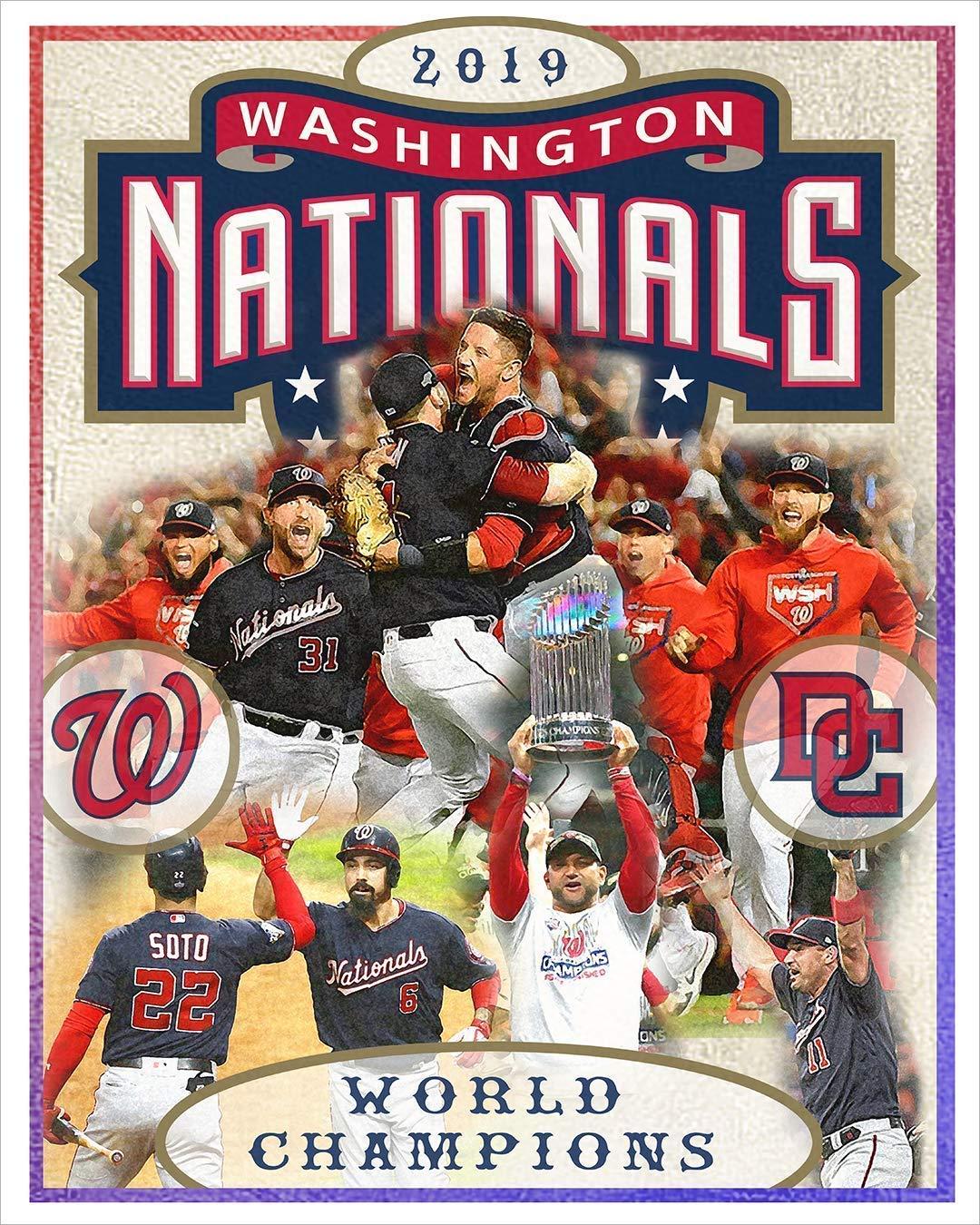 Washington Nationals World Series Poster Baseball 11x17 16x20 22x28 24x36 27x40