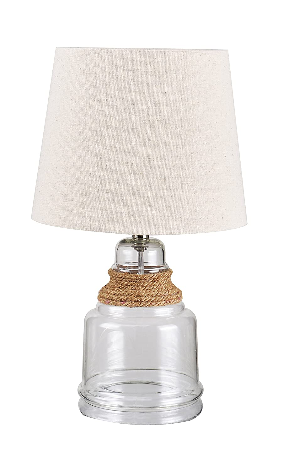 Hart lighting 1001SN1220 Beautility 2-Light Semi-Flush with Fabric Satin Nickel