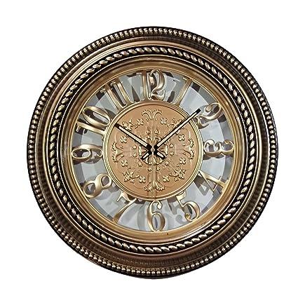 ROYSTAR Analog Wall Clock Golden Color (38 cm X 38 cm) DIAL - 25 cm