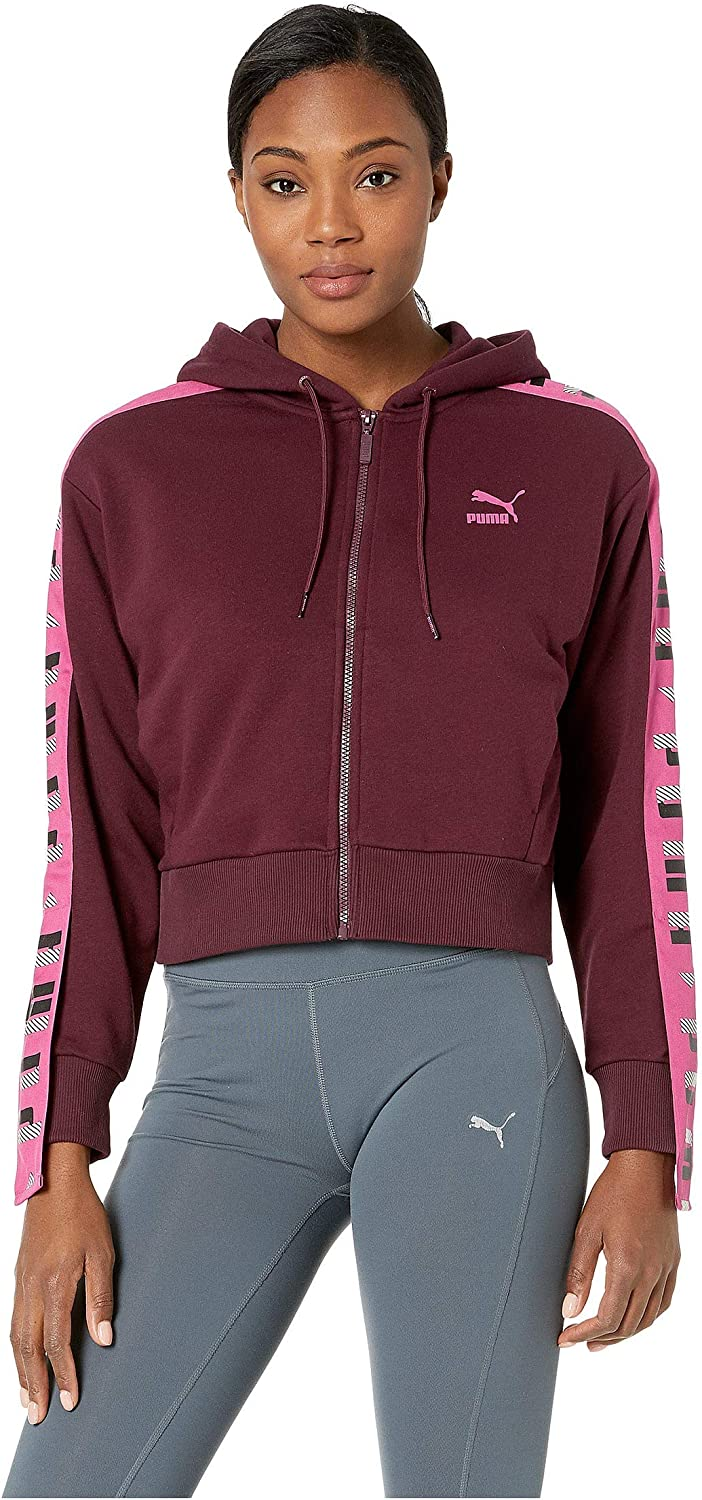 PUMA Womens Revolt Full Zip Terry Hoodie