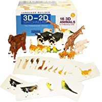 Language Builder 3D-2D Animals Matching Kit for Autism Education and ABA Therapy