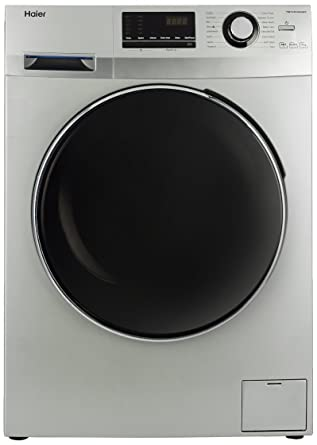 Haier 7 kg Fully-Automatic Front Loading Washing Machine (HW70-B12636NZP, Titanium Grey)