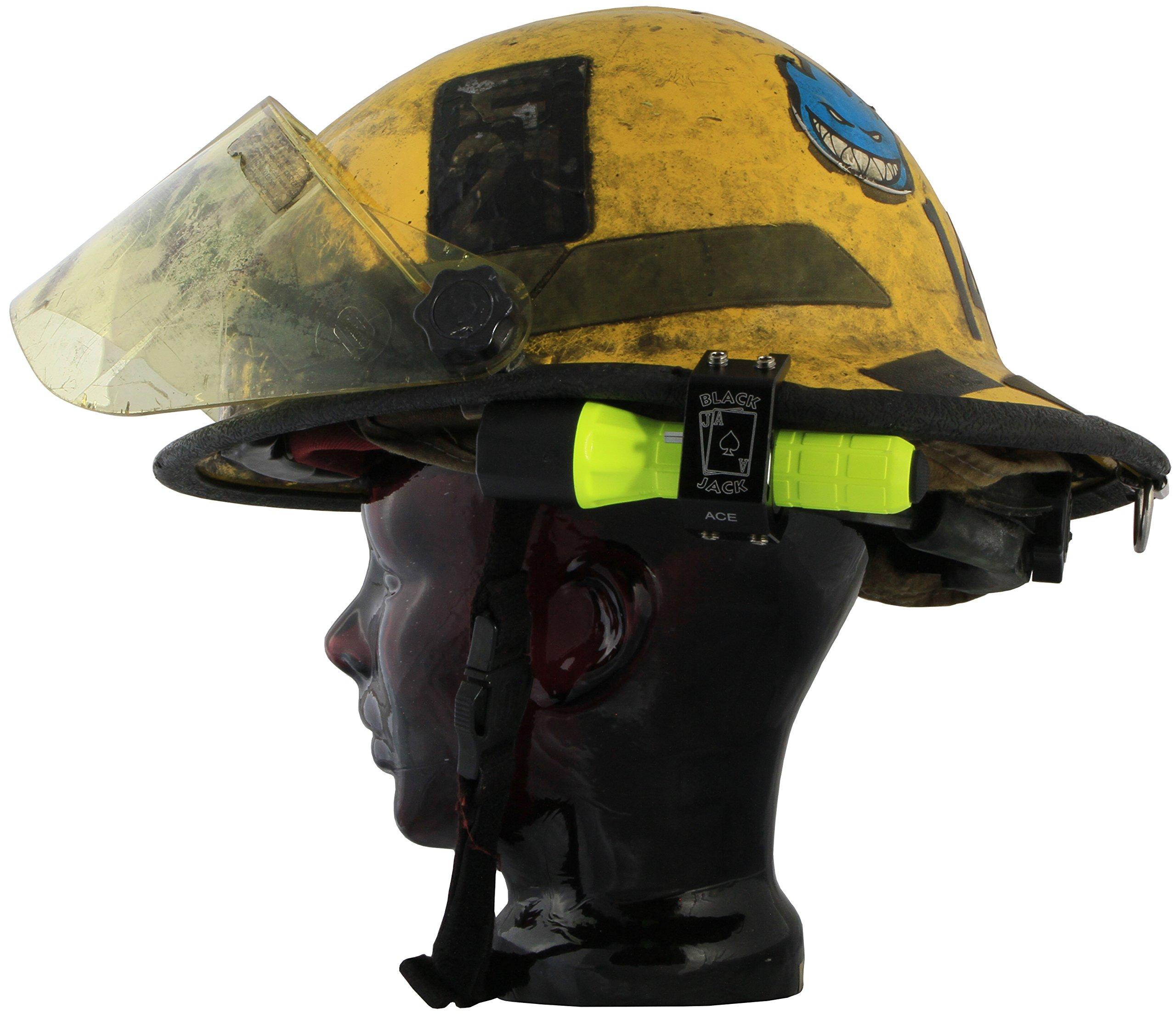Blackjack ACE Firefighter Helmet Aluminum Flashlight Holder by Blackjack Fire & Safety (Image #5)