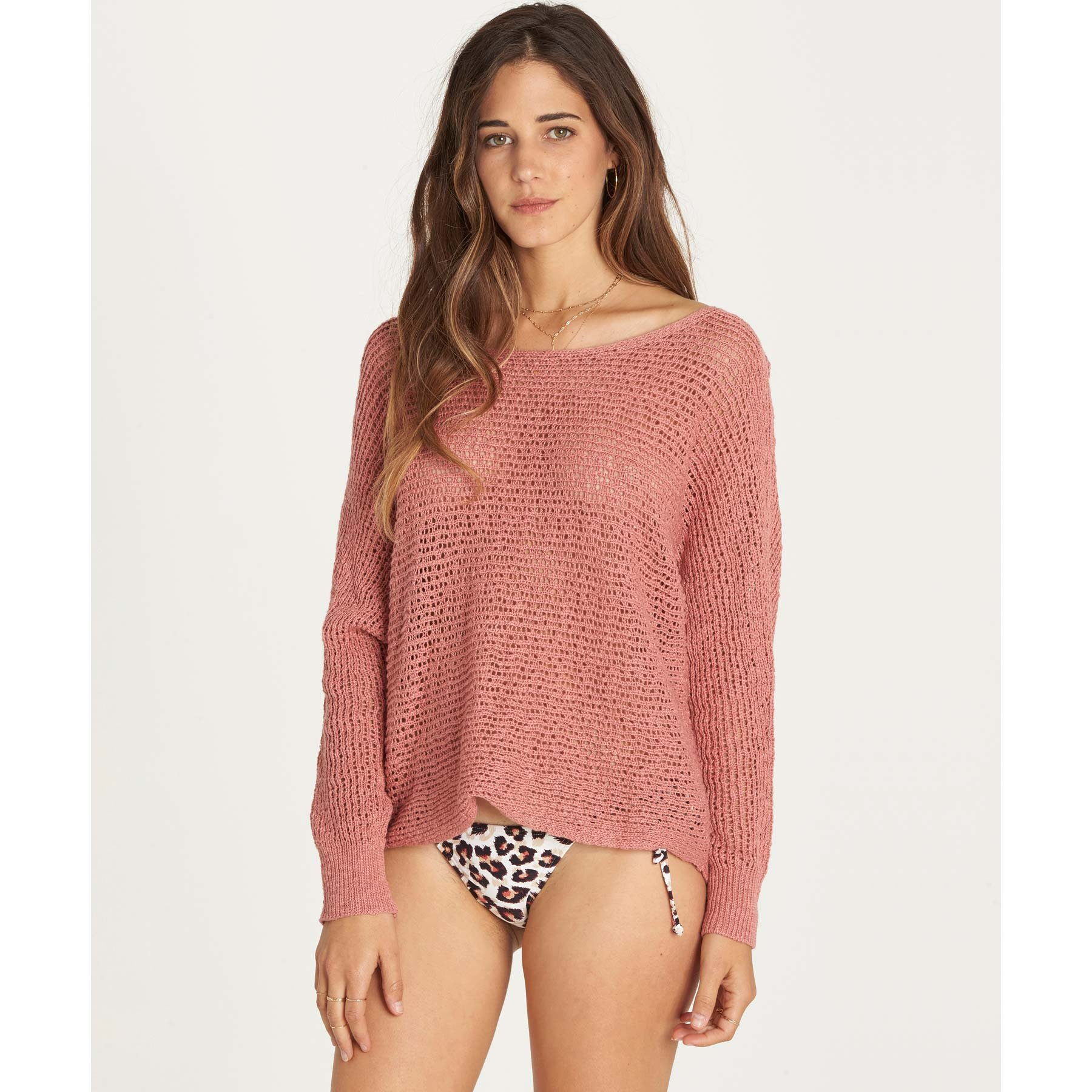 Billabong Women's Dance with Me Pull Over Sweater, Ash Rose, S
