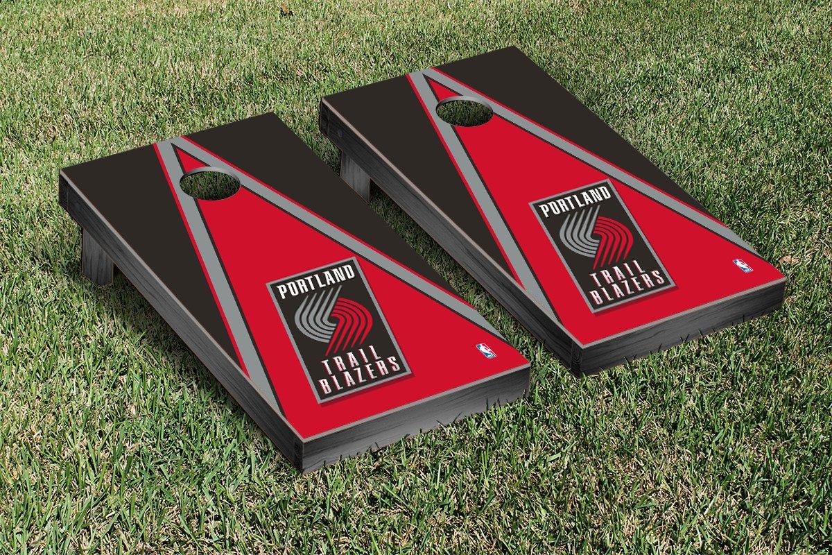 Portland Blazers Trailblazers NBA Basketball Cornhole Game Set Triangle Version by Victory Tailgate