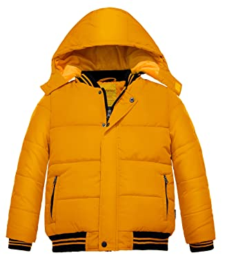 5dfd5bc80 Amazon.com  Wantdo Boy s Quilted Winter Coat Zipped Windproof ...
