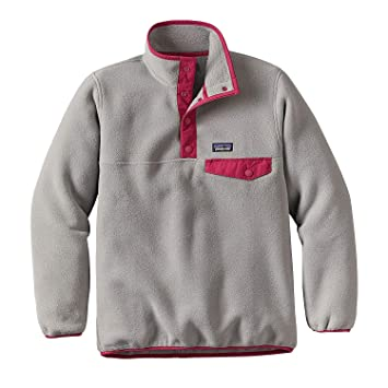 3987c1761 Patagonia Girls' Lightweight Synchilla Snap-t Pullover (Little Big ...