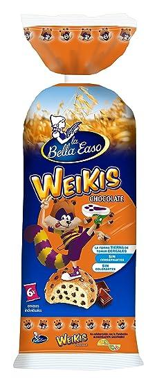 Weikis Choco de 6 uds - 240 gr (40 gr cada bollo): Amazon.es ...