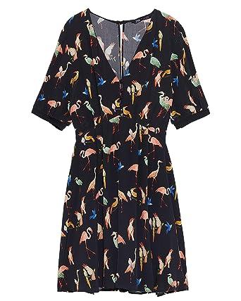 7329abd6 Amazon.com: Zara Women Animal Print Playsuit Dress 2627/336: Clothing