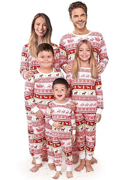 Christmas Family Pajamas Set.Rnxrbb Holiday Christmas Family Pajamas Set Xmas Pjs Matching Men Women Kid Santa Reindeer Warm Sleepwear Classic
