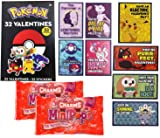 Pokemon Valentine Cards With Stickers and Charms