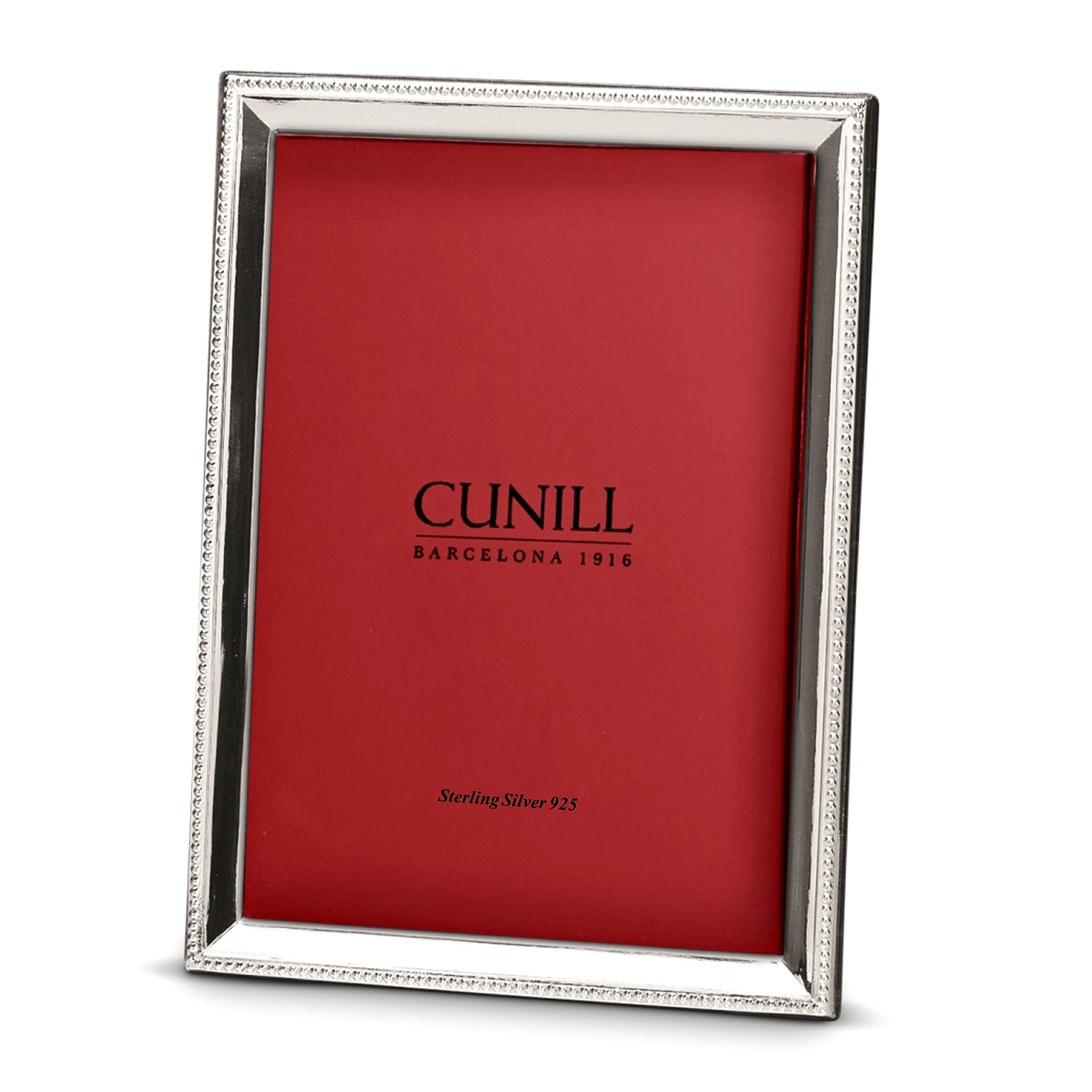 Cunill Bead Bevel 4x6 Sterling Silver Picture Frame