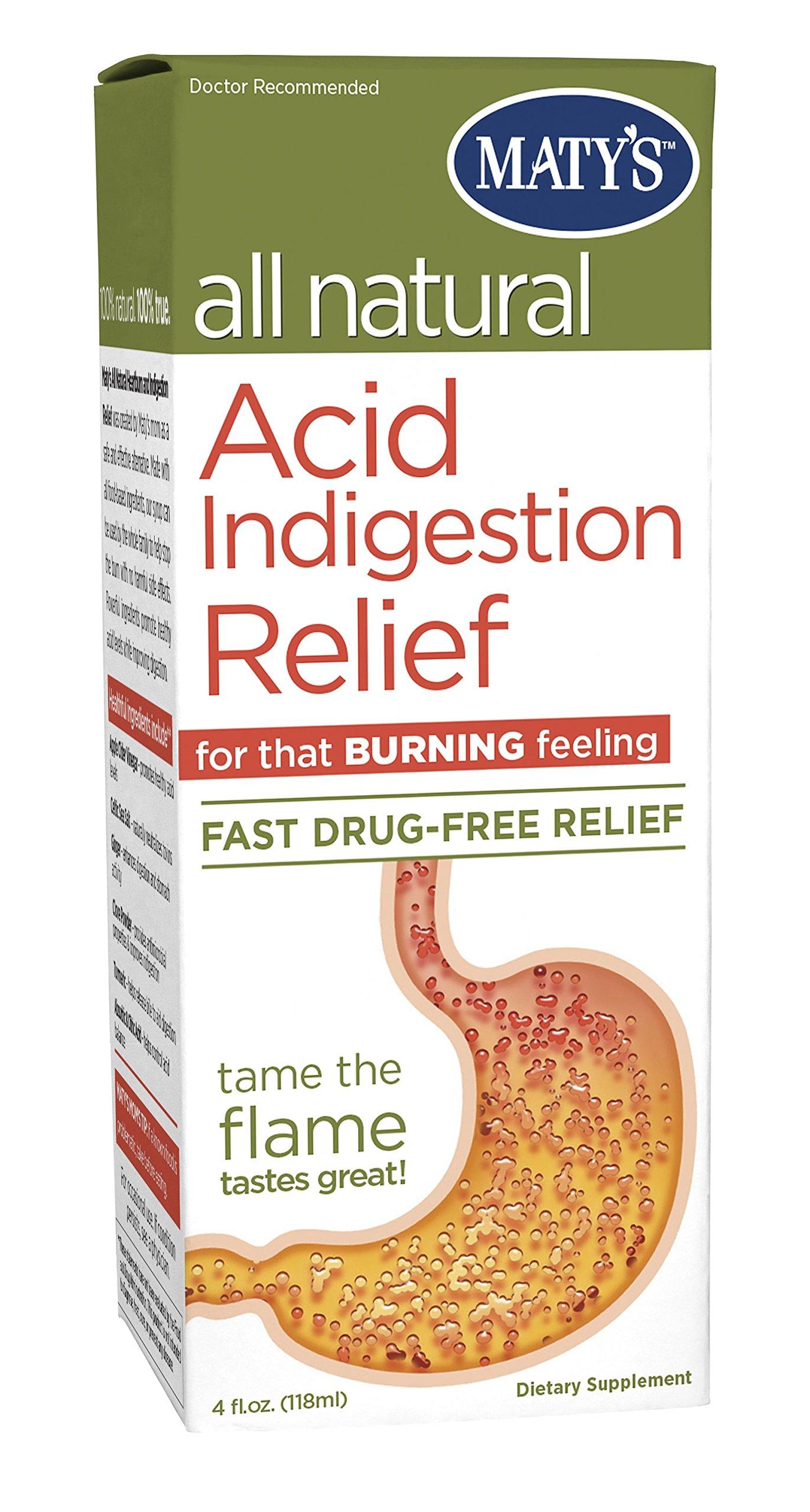 Matys All Natural Acid Indigestion Relief Antacid 4.0 Fluid Ounce