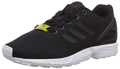 adidas ZX Flux, Baskets Basses Mixte Enfant, Noir (Black/Black/White