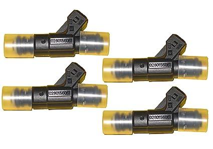 4 Piece Set of Bosch OEM Fuel Injectors # 0280156061 - Audi / Volkswagen #  06A906031BA