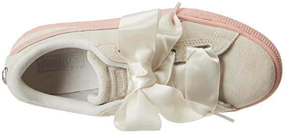 low priced 1571f 0e275 PUMA Girls' Suede Heart Jewel Jr Trainers: Amazon.co.uk ...