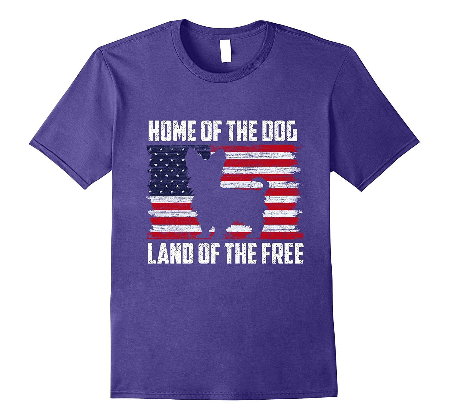 Yorkshire Terrier Home Of The Dog Patriotic USA Flag T-shirt-TH