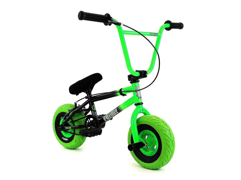 eb89e01d41d Amazon.com : FatBoy Mini BMX 2018 Stunt Atomic Bike (Blue/Green) : Sports &  Outdoors