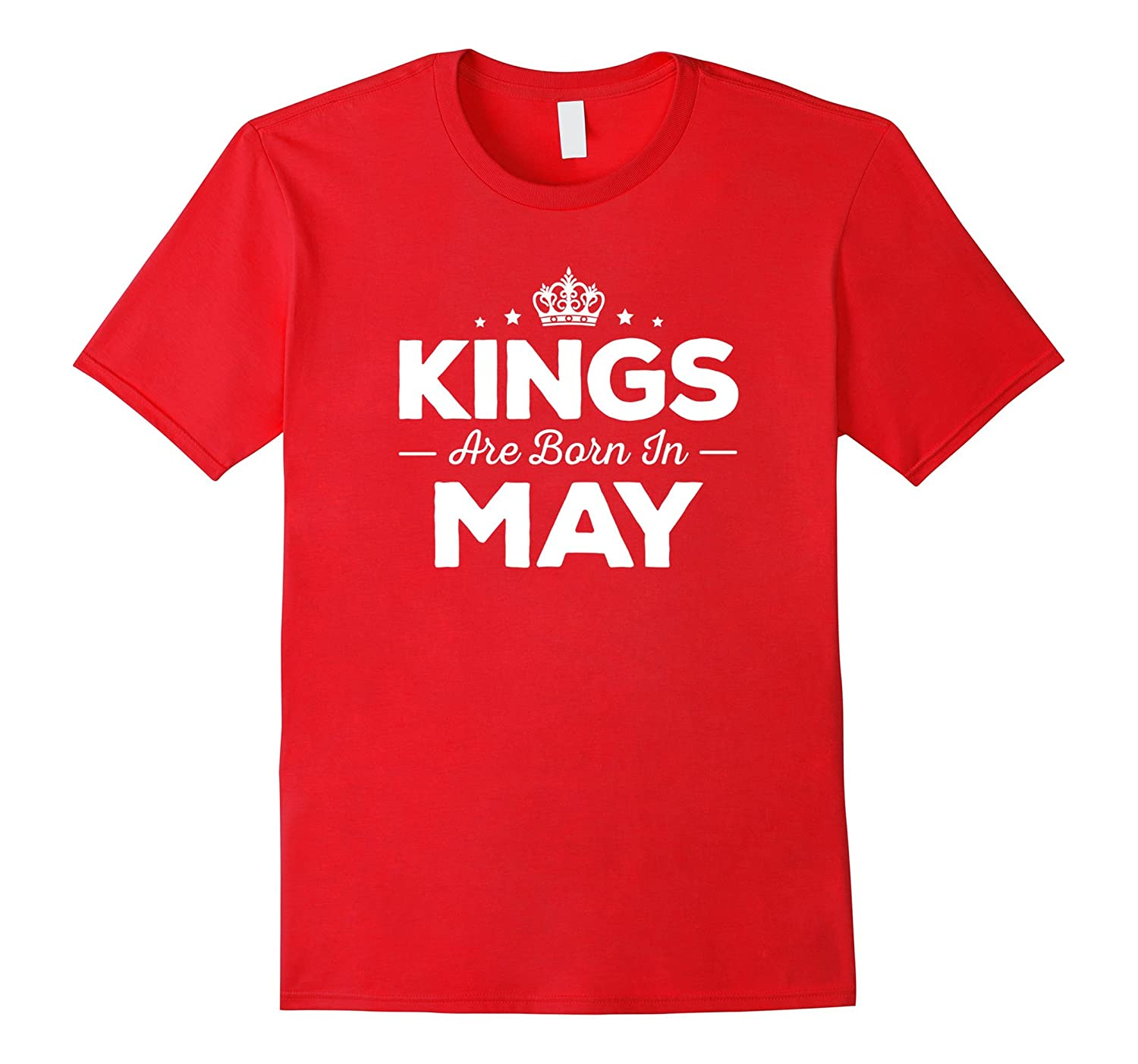 Kings Are Born In May - Birthday T-Shirt-Vaci