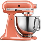 KitchenAid KSM150PSPH Artisan Tilt-Head Stand Mixer with Pouring Shield, 5-Quart, Bird of Paradise (Renewed)