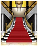 Beistle 53424 Grand Staircase Insta-Mural Photo Op, 5' x 6', Multicolored
