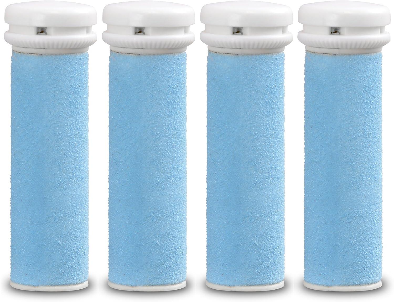 Rodillos de repuesto E-Cron compatible con Emjoi Micro-Pedi eliminador de asperezas y suaves, 4 recambrio.